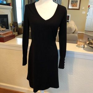 BCBGMaxAzria V-Neck Sweater Dress Sz L